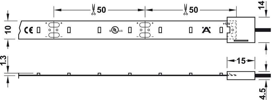 Led-nauha, 50 m rulla, 240W, 4000K (CW AB-G 73126)