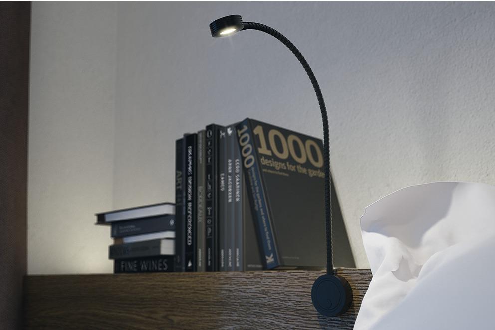 Lukuvalo (KROMI) taipuisalla varrella ja 2 kpl USB liitintä AB-G74090 (12v)