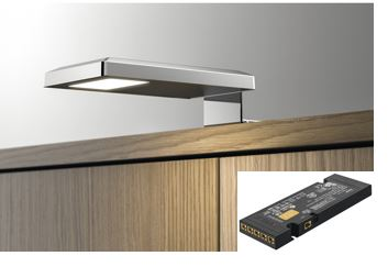 LED-valaisin + muuntaja (liittimet kuudelle valaisimelle)