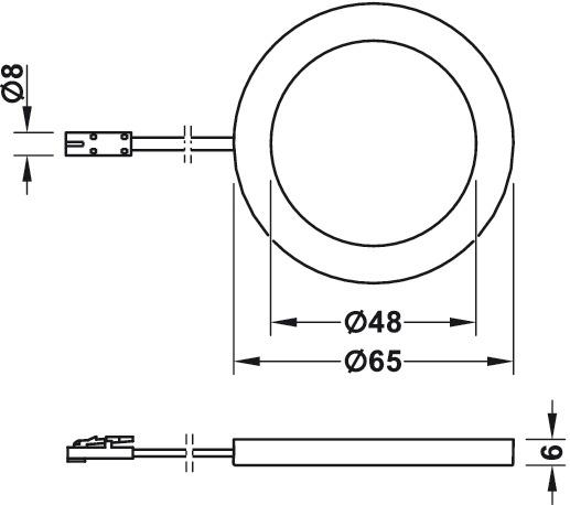 AB-G77190/191 (Pyöreä) Ohut, 6mm paksu pinta asennettava valaisin (Huom. 24 volttia)