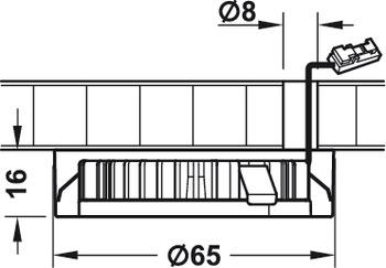 Pinta asennuskaulukset muunneltavaan kalustevaloon AB-G72352