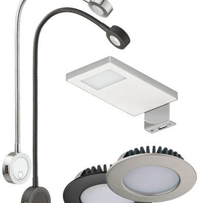 Upotettavat ja pinta-asennettavat LED-valaisimet