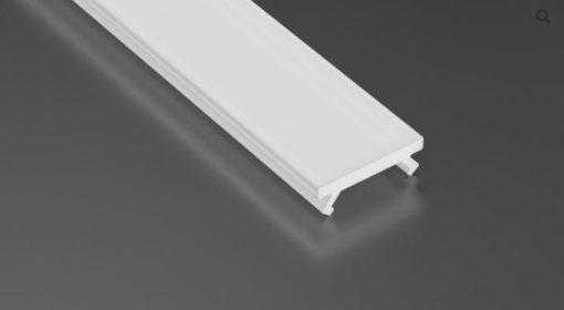 Pieni kokoinen LED profiili X musta/ kansi maito PMMA,  8mm led nauhalle, koko12 x 8mm